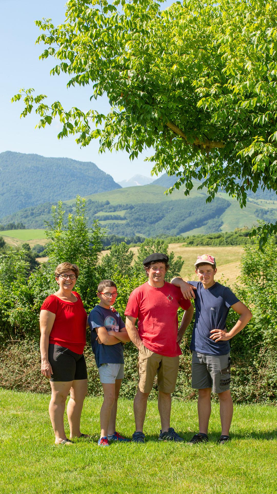 Famille Boscq à la Ferme Landran