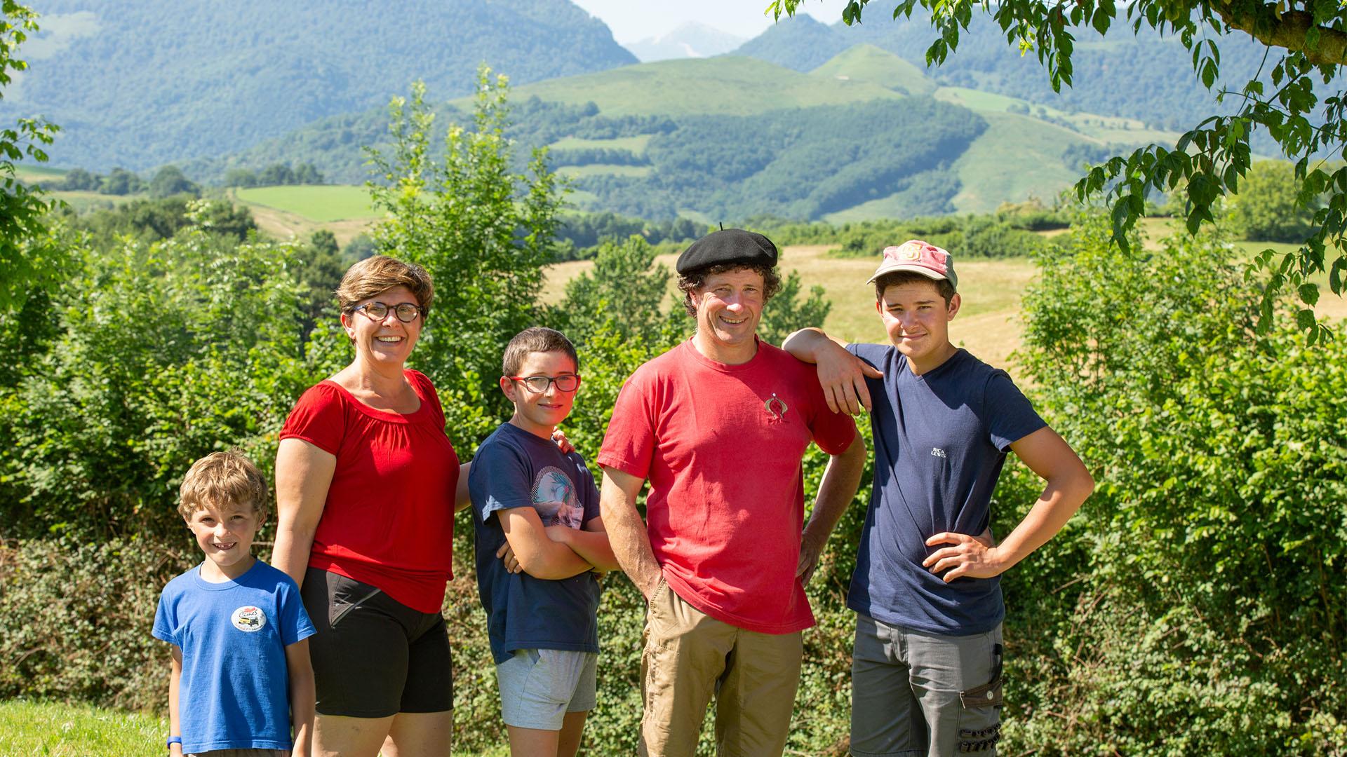 La famille Boscq de la Ferme Landran